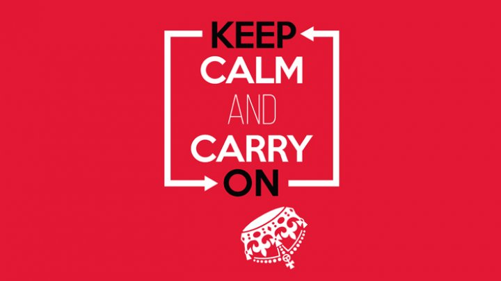 Keep calm and carry on. Foto 1